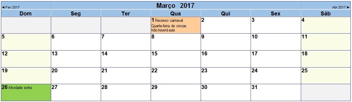 2017 03 Calendário