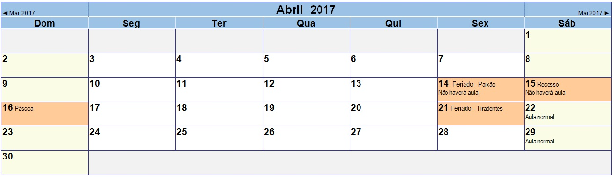 2017 04 Calendário