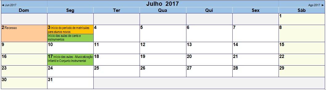 2017 07 Calendário