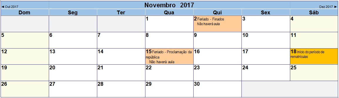 2017 11 Calendário