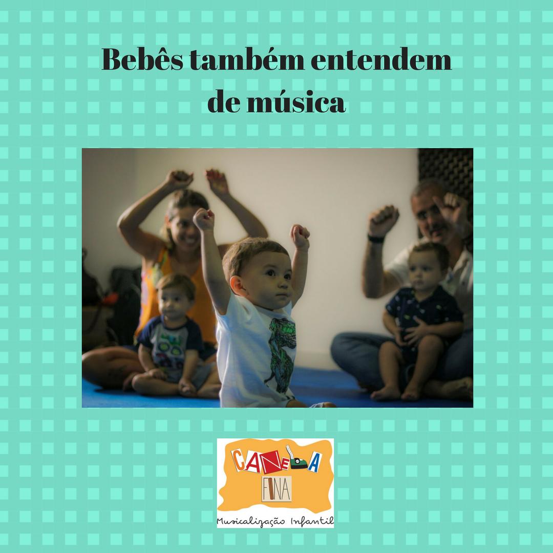 Bebês também entendem de música