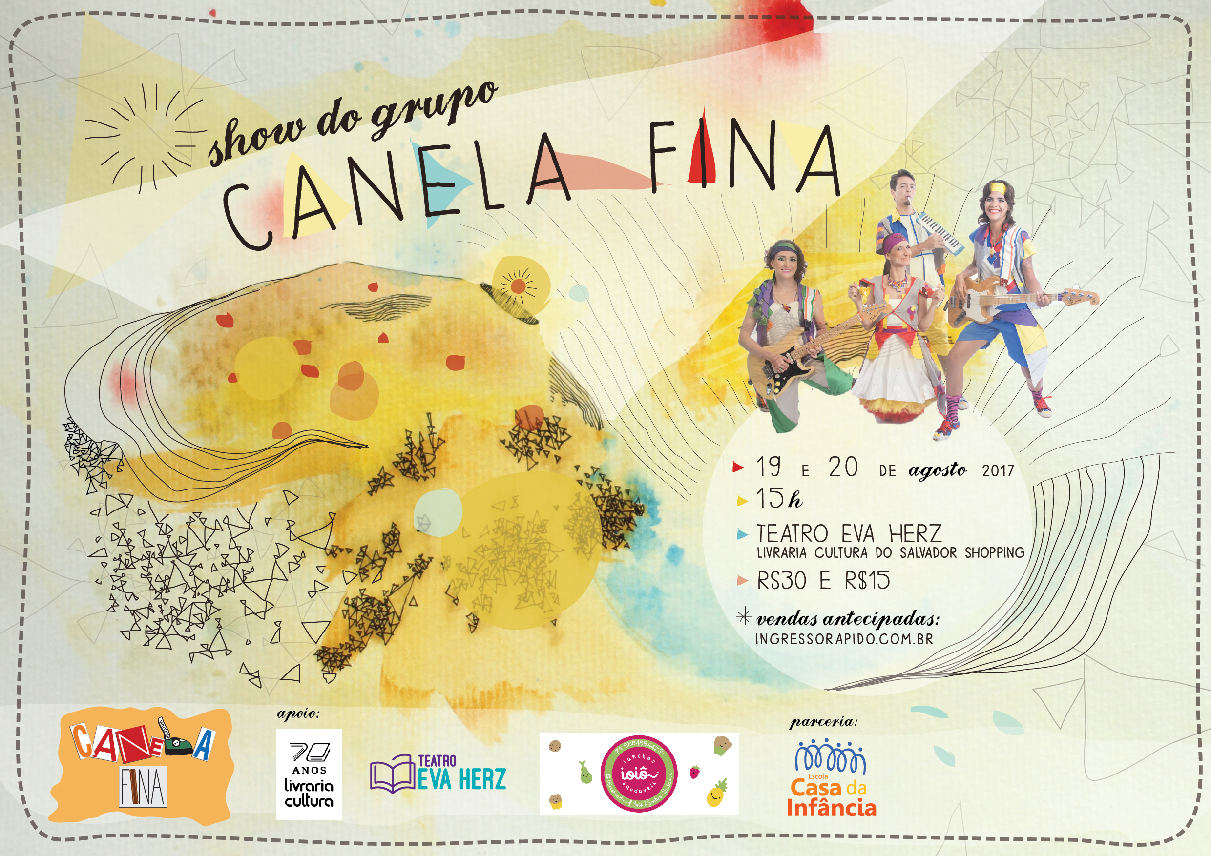 cartaz show do Canela 2017 VIRTUAL