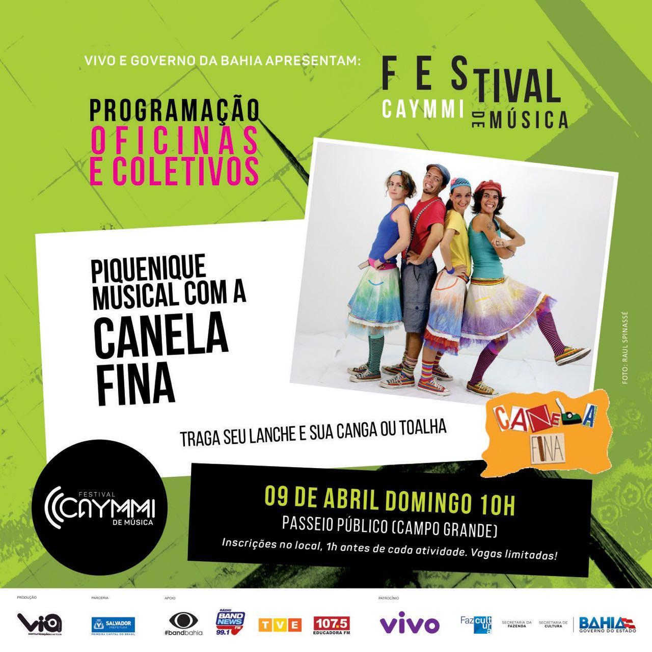 Canela piquenique festival caymmi